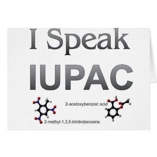Química pura y aplicada de la unión internacional tarjeta de felicitación