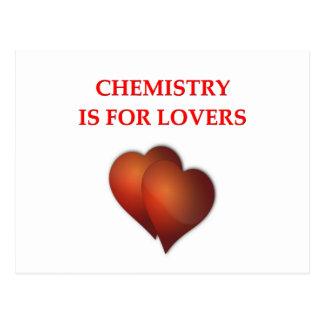química tarjeta postal