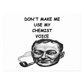 químico tarjeta postal