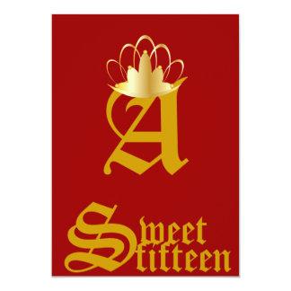 Quince-Personalizar coronado del dulce del Invitacion Personalizada
