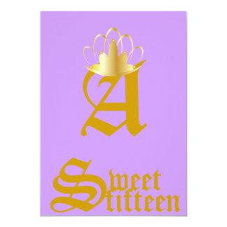 Quince-Personalizar coronado del dulce del Anuncios
