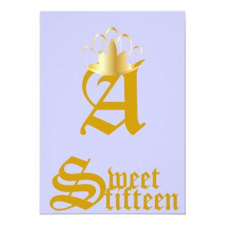 Quince-Personalizar coronado del dulce del Comunicado Personal