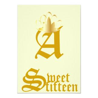 Quince-Personalizar coronado del dulce del Anuncio Personalizado
