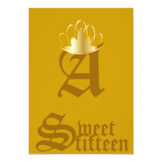 Quince-Personalizar coronado del dulce del Invitación 12,7 X 17,8 Cm