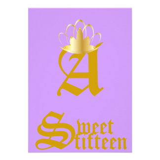 Quince-Personalizar coronado del dulce del monogra Anuncios