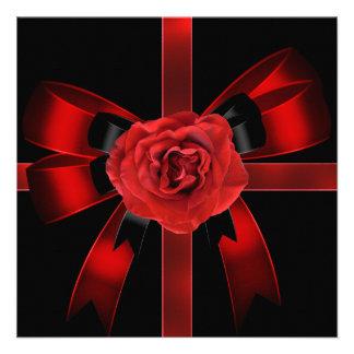 Quinceanera 15 color de rosa negros rojos de la fi comunicados personales