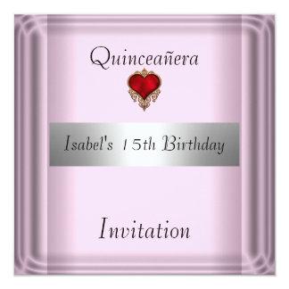 quinceanera, dulce, 15, reserva de la invitación