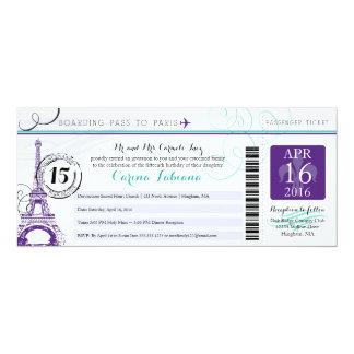 Quinceanera el | París Invitación 10,1 X 23,5 Cm
