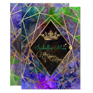 Quinceanera/galaxia/púrpura de invitación 12,7 x 17,8 cm