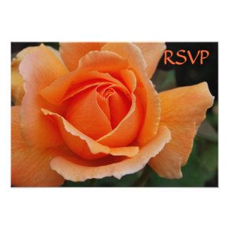 Quinceanera invita a rosas del naranja de RSVP Anuncios