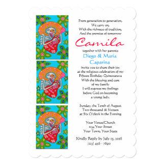 Quinceanera invita cumpleaños de la serenata del invitación 12,7 x 17,8 cm