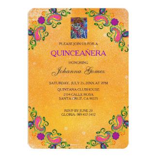 QUINCEAÑERA INVITATION DIA DE LOS MUERTOS INVITACIÓN 12,7 X 17,8 CM