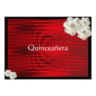 Quinceanera rojo elegante Invitatio/dulce quince