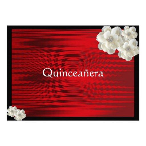 Quinceanera rojo elegante Invitatio/dulce quince Anuncios