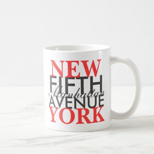 Quinta Avenida Nueva York Taza De Café