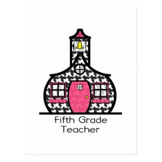 Quinta escuela de Houndstooth del grado Tarjetas Postales