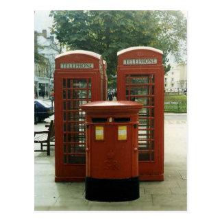 Quioscos británicos de la caja y de teléfono de postal