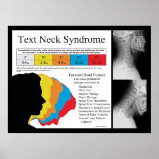 Quiropráctica del síndrome del cuello del texto en póster