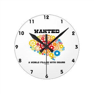Quiso un mundo llenado de los engranajes (los engr reloj de pared