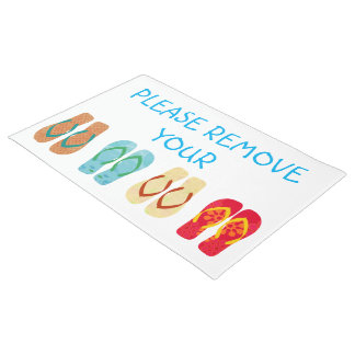 Quite por favor sus flips-flopes de los zapatos