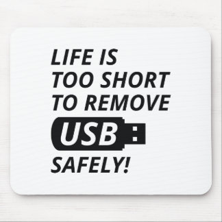 Quite USB con seguridad Alfombrilla De Ratón