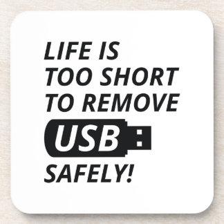 Quite USB con seguridad Posavasos