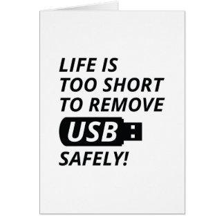 Quite USB con seguridad Tarjeta De Felicitación