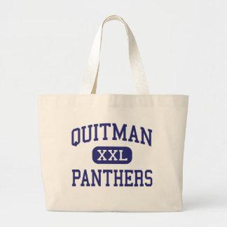 Quitman - panteras - joven - Quitman Mississippi Bolsas Lienzo
