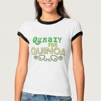 Qurazy para el © de la quinoa - lema divertido de  camisetas