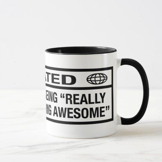 R clasificado para ser impresionante taza
