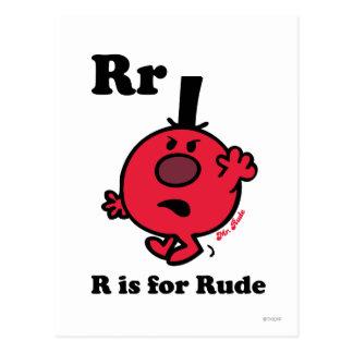R está para grosero postal