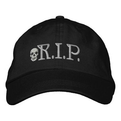 R.I.P. Gorra bordado cráneo Gorra De Beisbol