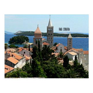 Rab, fotografía del paisaje de Croacia Postal