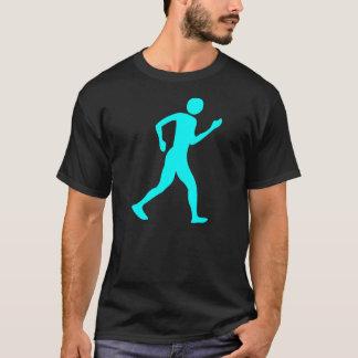 Racewalking - ciánico camiseta