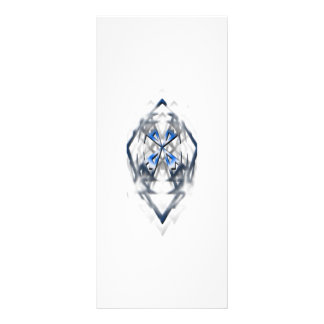 Rackcard adaptable cruzado azul diseño de tarjeta publicitaria