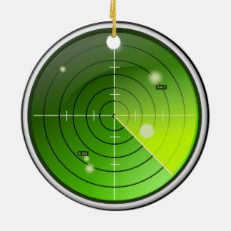Radar Adorno Navideño Redondo De Cerámica