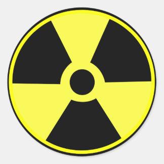 Radiactivo Etiquetas Redondas