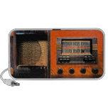 Radio del vintage mp3 altavoces