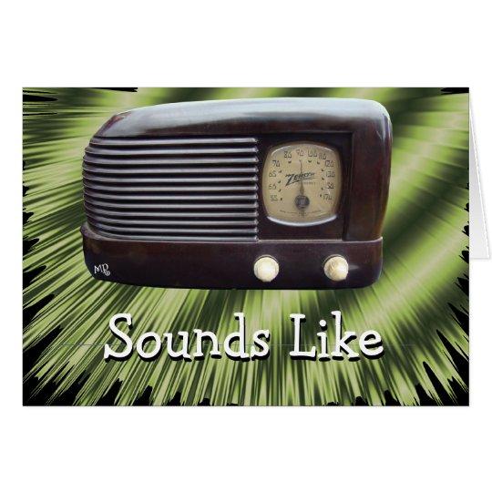 Radio-personalizar del vintage cualquier ocasión tarjeta de felicitación
