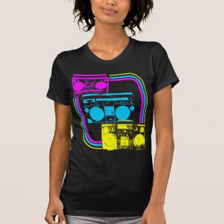 Radio retra del tigre 80s Boombox de Corey Camisetas