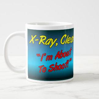 Radiografía, claro taza de café gigante