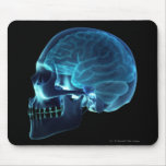 Radiografía del cerebro dentro de un cráneo alfombrilla de ratones