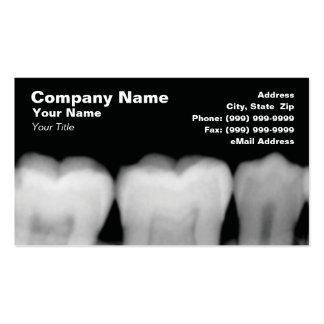 Radiografías de dientes tarjetas de visita