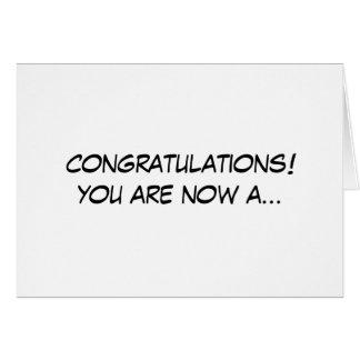 Radiografíe la tarjeta de la enhorabuena de la tec