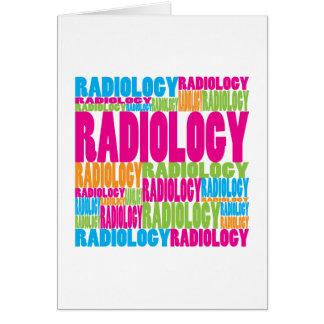 Radiología colorida tarjeta de felicitación
