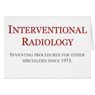 Radiología de Interventional Tarjetas