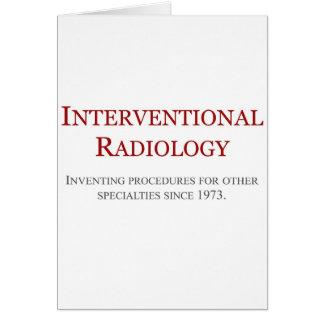 Radiología de Interventional Tarjeta De Felicitación