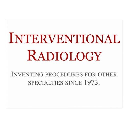 Radiología de Interventional Tarjetas Postales