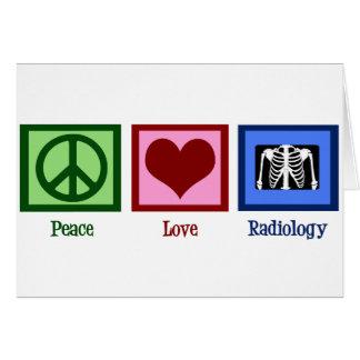 Radiología del amor de la paz felicitación