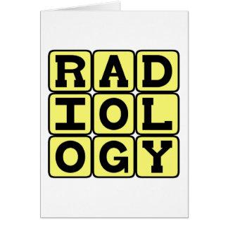 Radiología, el estudio de la proyección de imagen tarjeta de felicitación